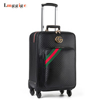 Rolling Luggage bag ,Women Fashion PU Suitcase ,Travel Carry On,Trolley Case with Wheel ,162024 inch Box