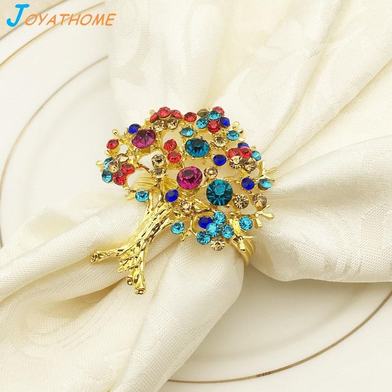 Joyathome colorful diamond tree napkin buckle napkin ring for Farfalle decorative per muri
