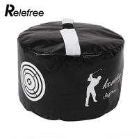 Relefree Golf Power Impact Swing Training Aid Practice Training Smash Hit Exercise Strike Bag Package Trainer
