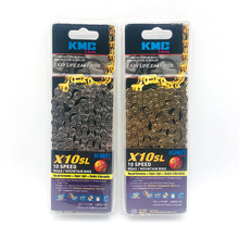 KMC X10SL Bicycle Chain Professional competition 10 Speed with Magic Button for MTB Road Bike Original box