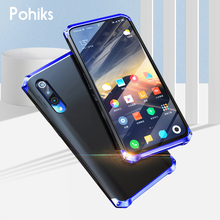 Pohiks High Quality Shockproof Metal Bumper Frame Hard PC Phone Case For Xiaomi Mi 9 SE Back Cover Fundas