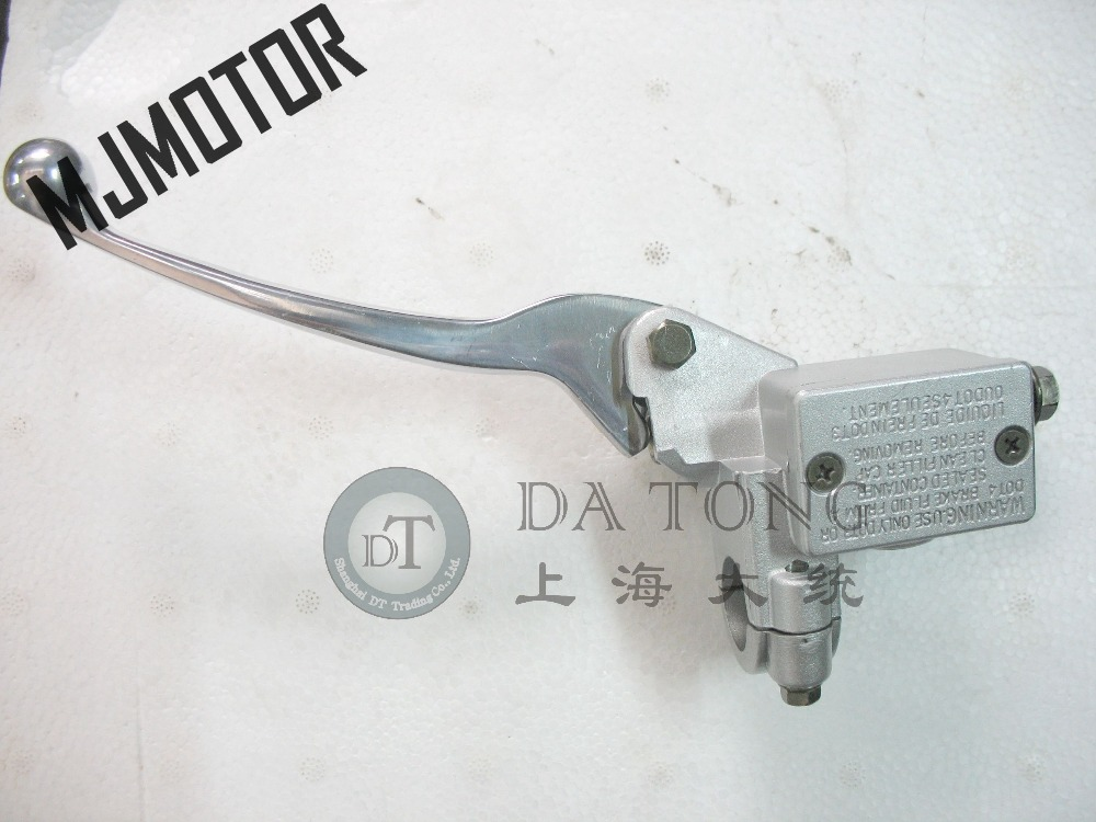 Silver Hydraulic Brake Handle w/ Master Cylinder Left Side for Chinese Scooter Honda Yam ...