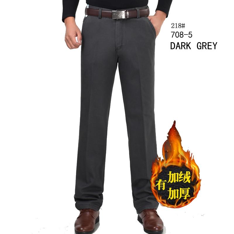 Baru musim dingin Ditambah beludru celana kasual pria celana setelan - Pakaian Pria - Foto 5