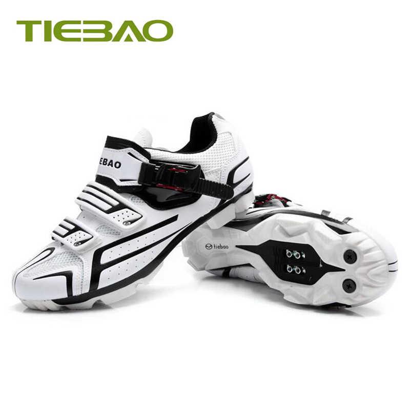 Zapatos de ciclismo Tiebao sapatilha mtb para hombre y mujer, zapatos de ciclismo de montaña con bloqueo automático, zapatos transpirables con pedales, zapatillas para equitación