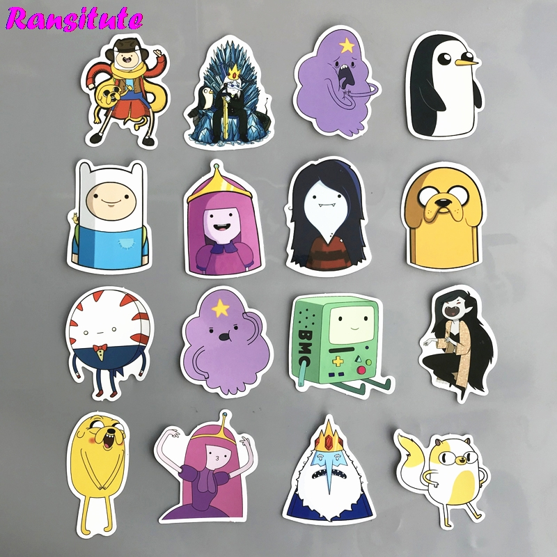 R151 30pcs/set Adventure Time DIY Toy Sticker Laptop Laptop Skateboard Motorcycle Mobile Phone Waterproof Sticker