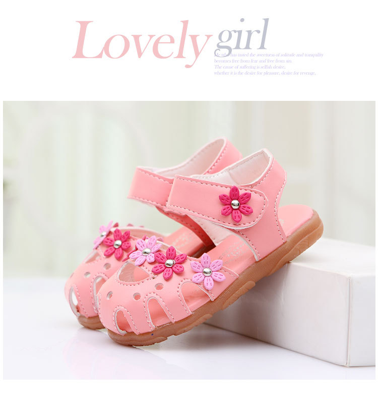 Summer Flower Soft Bottom Baby Sandals