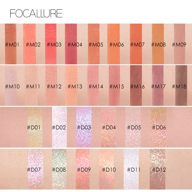 FOCALLURE Matte single Eyeshadow professional top quality powder pigmented shadow nude easy to wear matte eye shadow 2