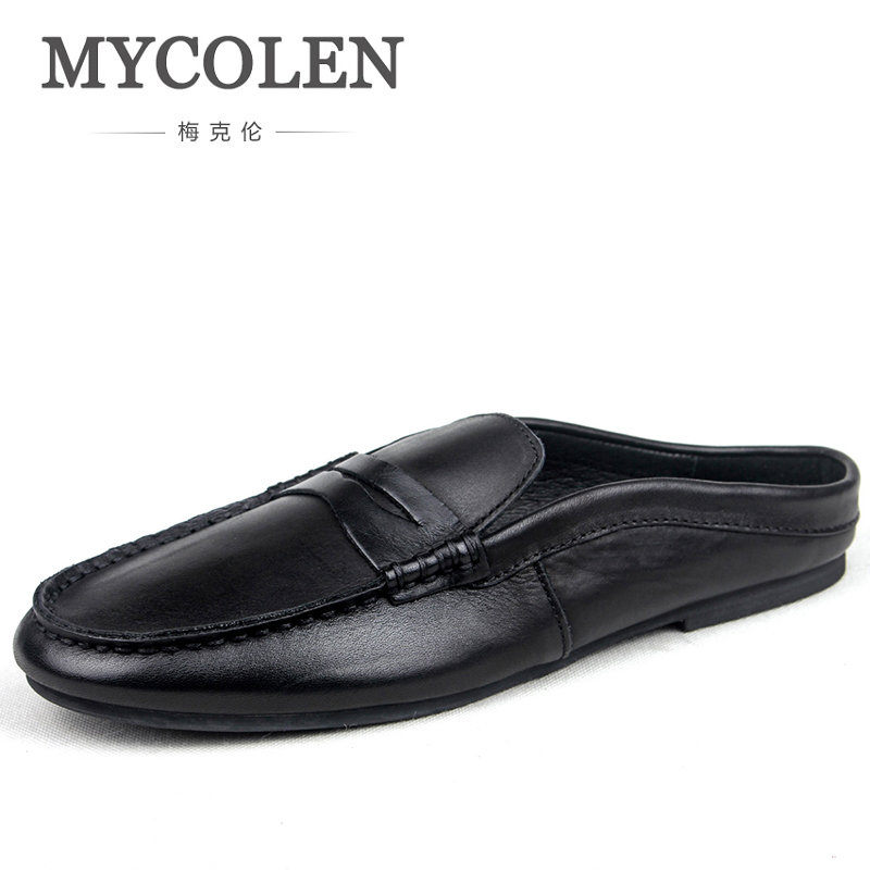 MYCOLEN Men Fashion Slippers Summer Men Casual Shoes Bottom Male Outdoor Footwear Anti-Slip Lightweight Slippers For Male