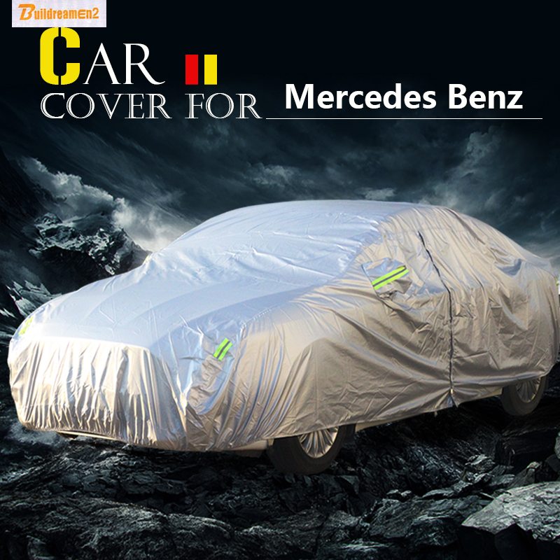 Buildreamen2 Car Cover Anti UV Sun Snow Rain Scratch Protector Cover Waterproof For Mercedes Benz CLK63