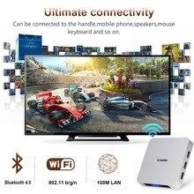leelbox Smart TV Box Android 9.0 AI ONE 4GB RAM 32GB ROM Support 4K H.265 2.4G WiFi BT4.0 100M LAN Google Play Media Player