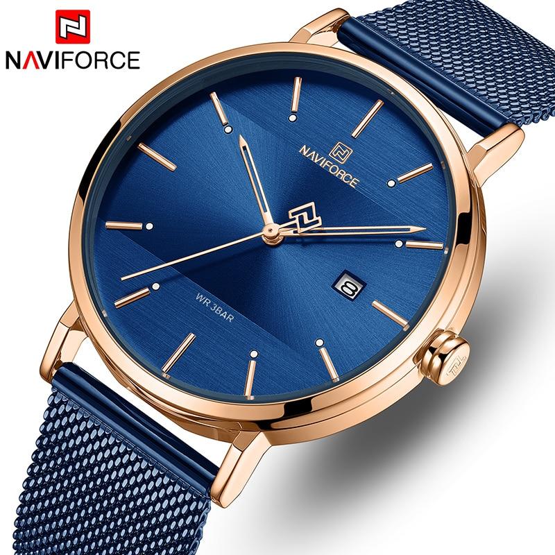 NAVIFORCE Men Watch Top Brand Simple Business Men's Watches Stainless Steel Waterproof Quartz Wrist Watch Men Relogio Masculino