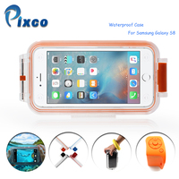 Pixco 30M Underwater Diving Waterproof Case For IPHONE X 8 7PLUE Swimming Cover, Bluetooth Remote Control Grip,Photography acce