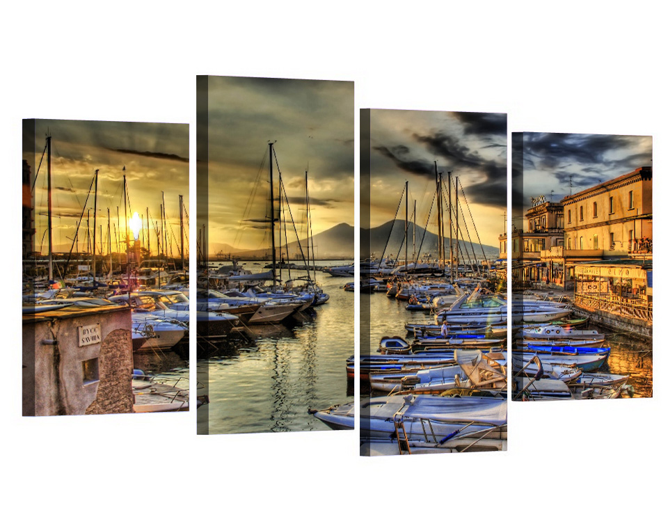 4 Panle Venice seascape Home Decor Picture Printed Custom Made Painting Canvas Print Room Decor Print Poster Picture Canvas in Painting Calligraphy from Home Garden