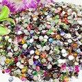 NEW Fashion 2020PCS/Bag 26g 4mm Mixed Color Acrylic flatback rhinestone beads decor nail art Tools/DIY craft phone decor Etc.