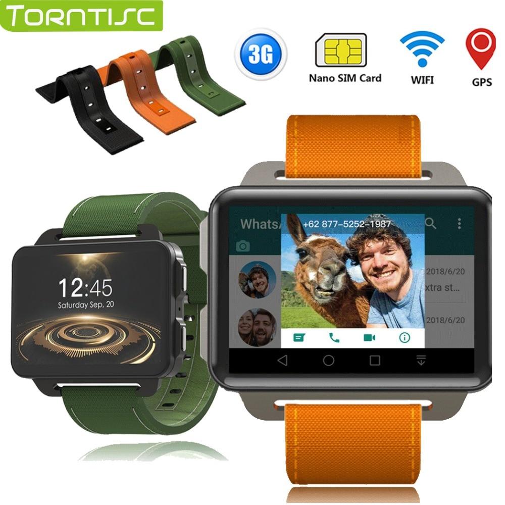 Torntisc DM99 Android Smart Watch Phone 1GB 16GB 1200 Mah Battery 130W Camera GPS WiFi SIM MP4 3G Smartwatch like LEM4 PRO clock electronics
