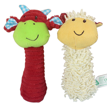 0-12 months 16cm CowSheep Animal Bebe toys Stick Grip Cotton Baby toys Infant Early Educational Doll Kids Gift