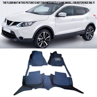For Nissan Qashqai J11 2014 2015 2016 Accessories Interior Leather Carpets Cover Car Foot Mat Floor Pad 1set