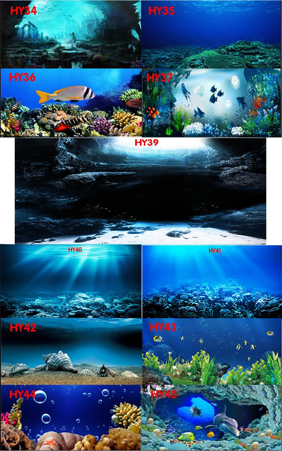 Waterproof Landscape Aquarium Background With Glue On Surface Beautiful Sea World Colorful Fish Poster HD Fish Tank Decoration beautiful ocean