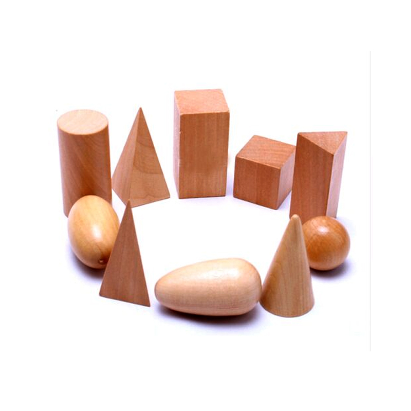 10pcs/set 3D Learning children educational toys for kids Cognitive diy Montessori Wooden Geometric Shapes Solids wooden Blocks baby toys montessori wooden geometric sorting board blocks kids educational toys building blocks child gift