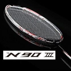 Raqueta de bádminton ligera de carbono raqueta de bádminton + cuerda N90 N99