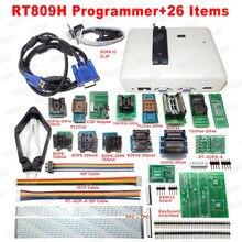 범용 RT809H EMMC Nand 플래시 프로그래머 + 26 항목 SOP8 플래시 어댑터 EMMC NAND NOR 더 RT809F 무료 배송