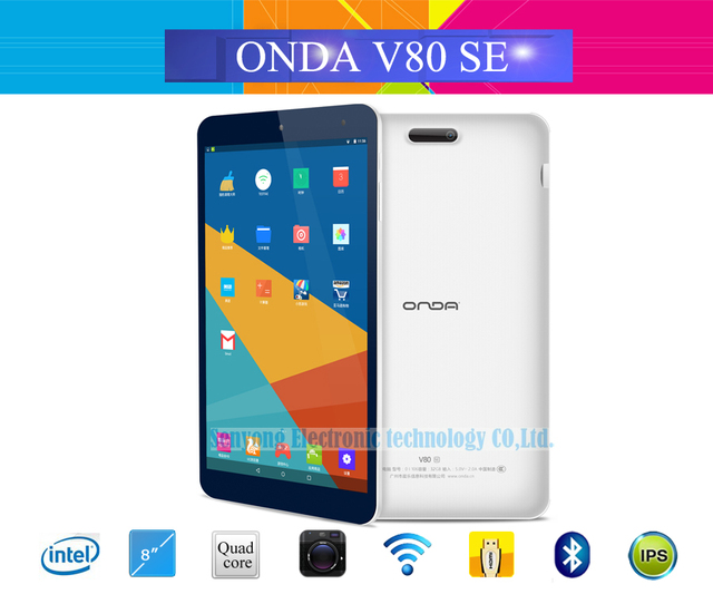 New Arrival 8 inch IPS Onda V80 SE Android 5.1 Tablet PC 1920*1200 Intel Z3735F Quad Core WiFi Bluetooth Camera 2GB RAM 32GB ROM