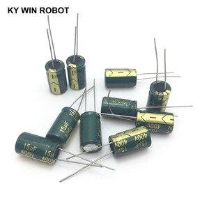 Image 5 - 10 шт. алюминиевый электролитический конденсатор 15 мкФ 400 в 10*17 мм frekuensi tinggi, радиальный электролитический конденсатор