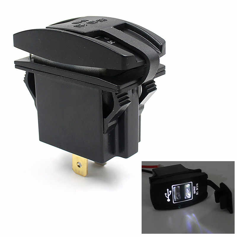 12V 24V Car Auto Boat Accessory Dual USB Charger Power Adapter LED Outlet  Car Charger For Mobile Phone #@30