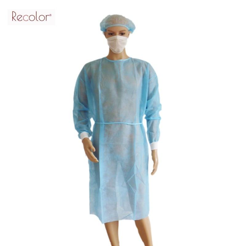 5pcs/lot Disposable Surgical Gown blue Dust Clothes Woven Overalls ...