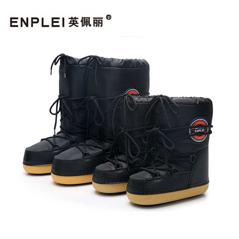 ENPLEI ski boots Women s Snow boots mid-calf cold-proof boots waterproof  boots Parent a4ab47943807