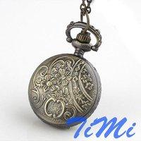 Wholesale Lady Women Girl Dress Necklace Watch Festival Gift Bronze Freeship Cool