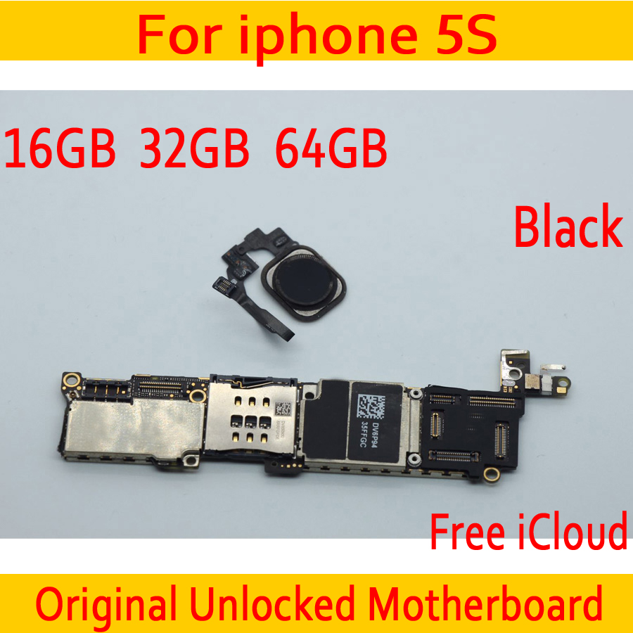 16GB 32GB 64GB Black for iphone 5S Motherboard with Touch ID,Original unlocked for iphone 5S Mainboard+Full Chips16GB 32GB 64GB Black for iphone 5S Motherboard with Touch ID,Original unlocked for iphone 5S Mainboard+Full Chips