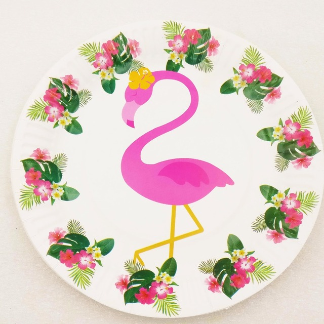 10pcs/lot 7inch Flamingo Theme Plates Party Supplies For Kids Birthday Flamingo Party Decoration Birthday & 10pcs/lot 7inch Flamingo Theme Plates Party Supplies For Kids ...