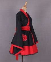 Naruto's Akatsuki Organization Female / Lolita Cosplay Kimono Dress