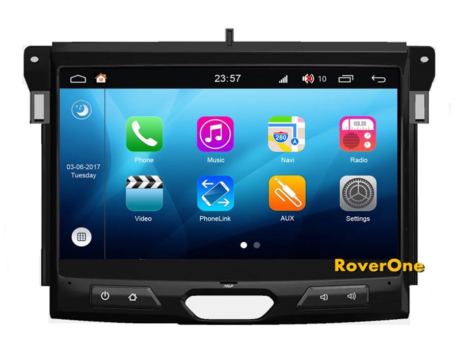 RoverOne Android 8.0 Système Multimédia De Voiture Pour Ford Ranger Everest 2015 2016 2017 Radio Stéréo DVD GPS Navigation Lecteur Multimédia