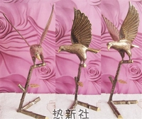 Pakistan imported hand carved bronze Eagle Eagle gift decoration A great hawk spreads its wings