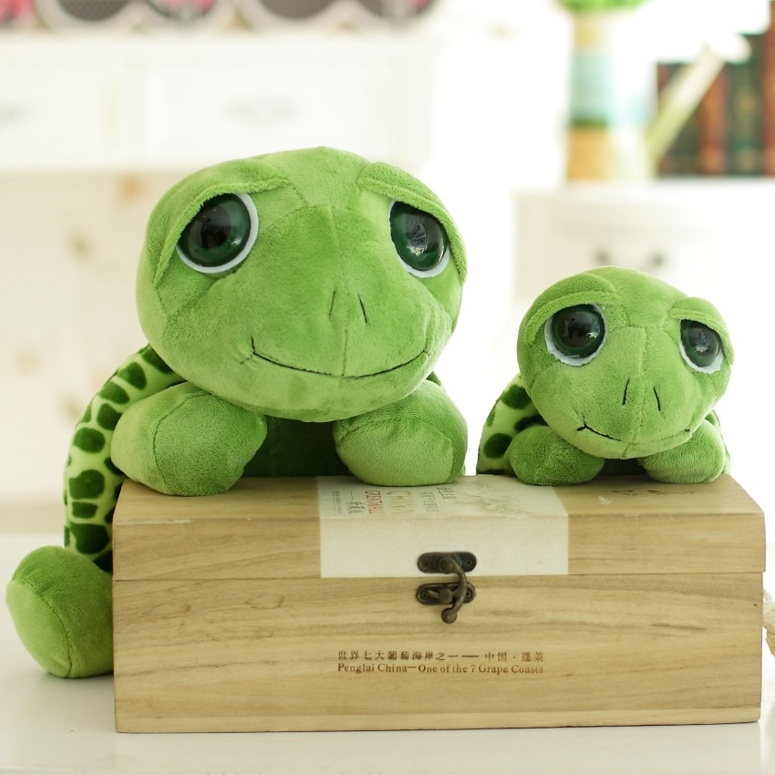 Huge Size Plush Tortoise Toy Cute Army Green Big Eyes Turtle Plush Pillow Staffed Cushion for Girls Vanlentines Day Gift