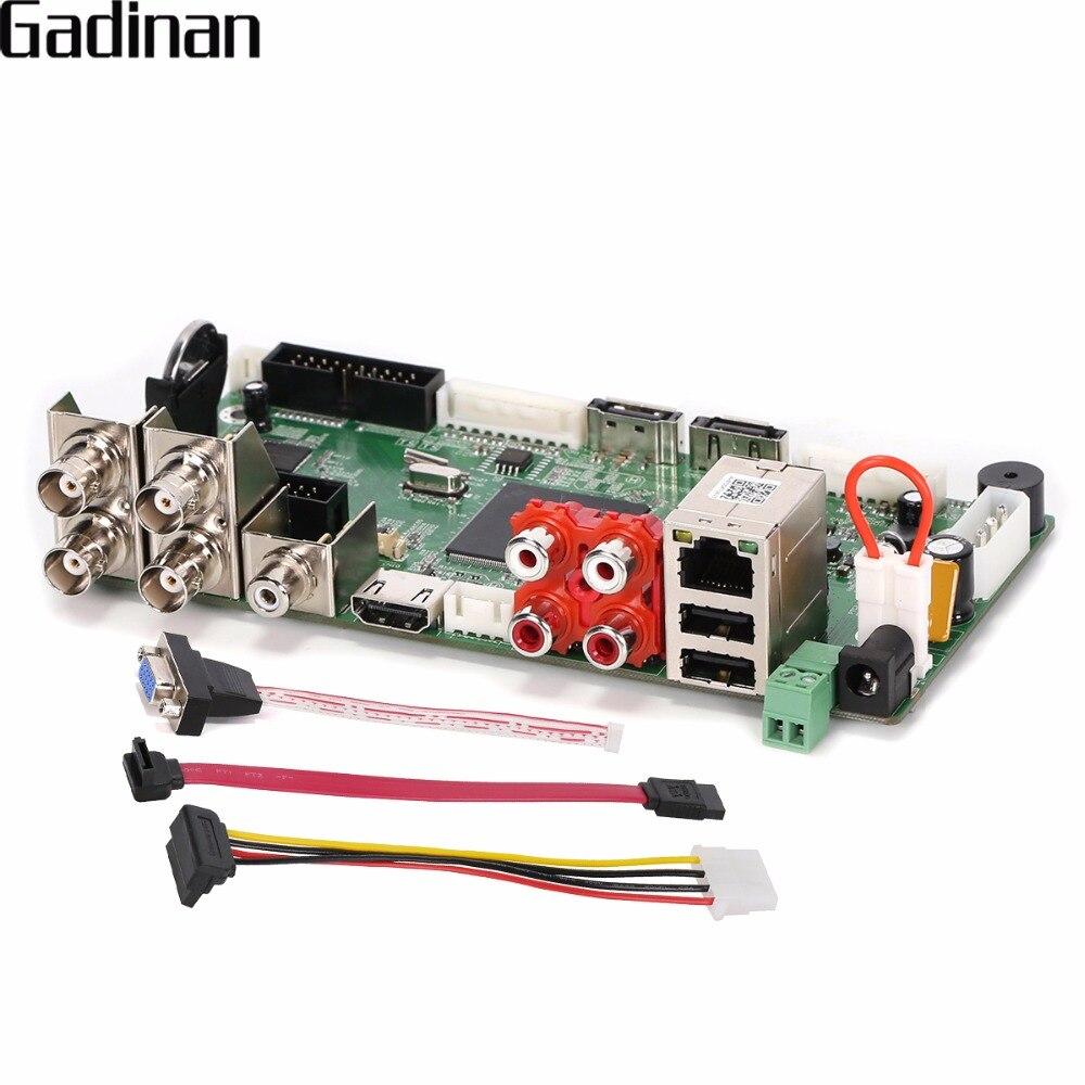 GADINAN CCTV H.264 AHD DVR 4 Canal 1080N Hybride AHD/CVI/TVI/CVBS 960 H D1 CIF 8 Canal 1080 P NVR, HDMI 5 dans 1 Carte Principale