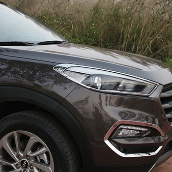 ABS Chrome עבור יונדאי טוסון 2015 רכב קדמי אור ראש מנורת פנסי מסגרת כיסוי לקצץ אביזרי רכב סטיילינג 2 pcs