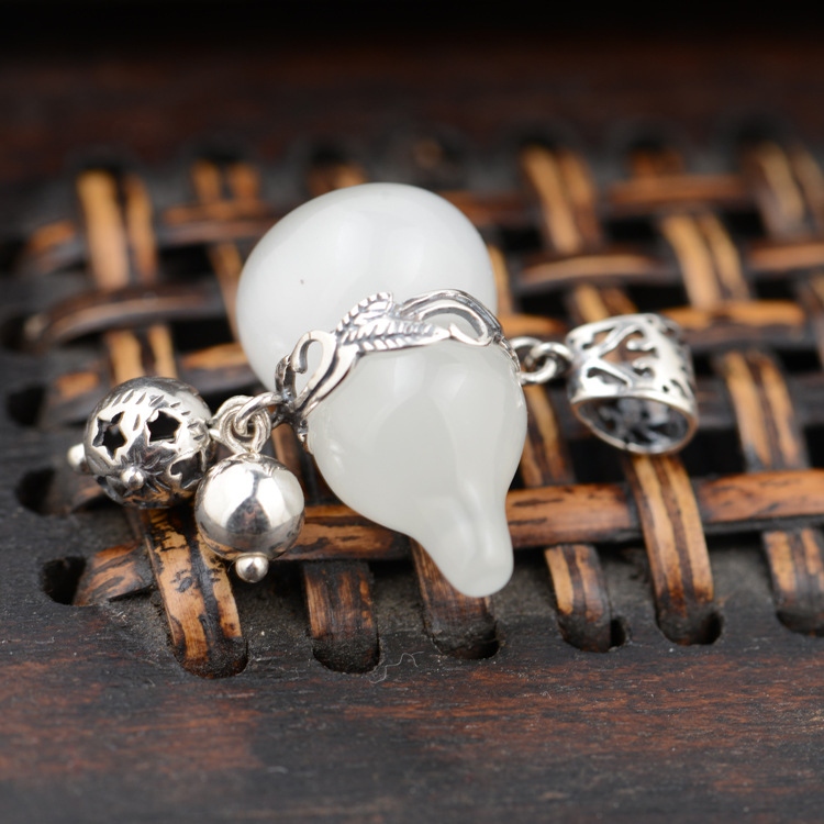 Black silver jewelry wholesale 925 sterling silver jewelry high imitation ivory cute calabash 045425w