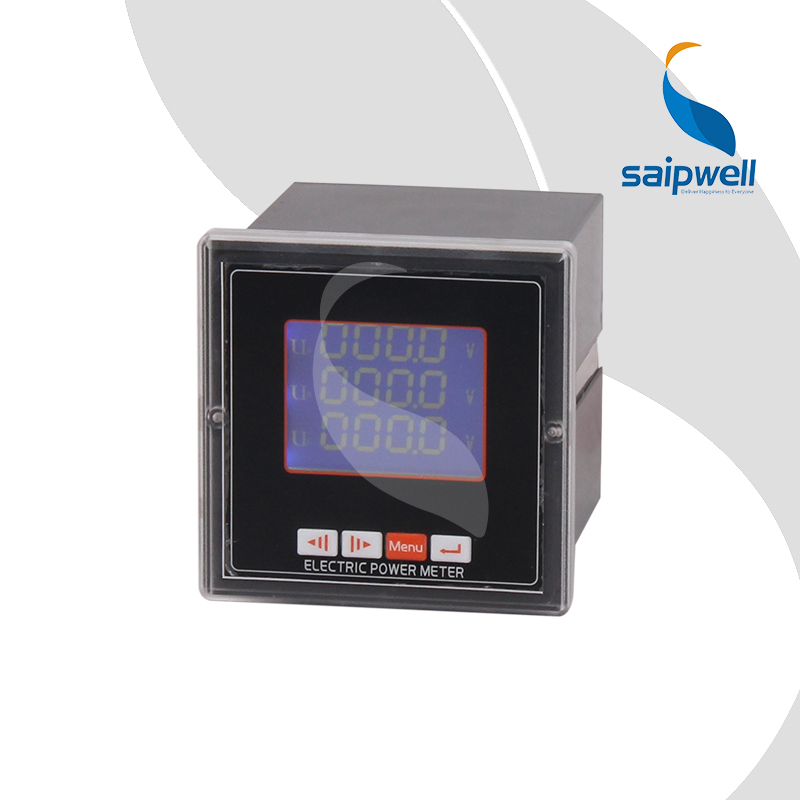72 Type Three Phase LCD Voltage Meter/ Volmeter LCD Intelligent Voltage Panel Meter 72*72*90mm ( SP-723UY) d6 4o panel size 72 72 low price and high quality ac single phase led digital energy meter for industrial usage