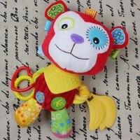 0 M + Yumuşak Bebek Peluş Oyuncak Karikatür Maymun Yatıştırmaya Diş Kaşıyıcı Çıngırak Bebek Arabası Beşik Yatak Asılı Oyuncak