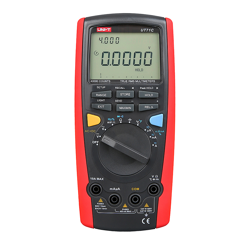 UNI-T UT71C True RMS Digital Multimeter Ammeter C/F Temperature Tester with USB Interface Universal Meter LCD Count 39999 Meter  цены