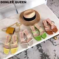 2019 neue Sommer Hausschuhe Niedrigen Ferse Gleitet Weibliche Peep Toe Platz Ferse Slipper Marke Sandale Urlaub Flip-Flops zapatos de mujer