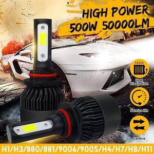 2PCS 500W 50000LM Car LED Head