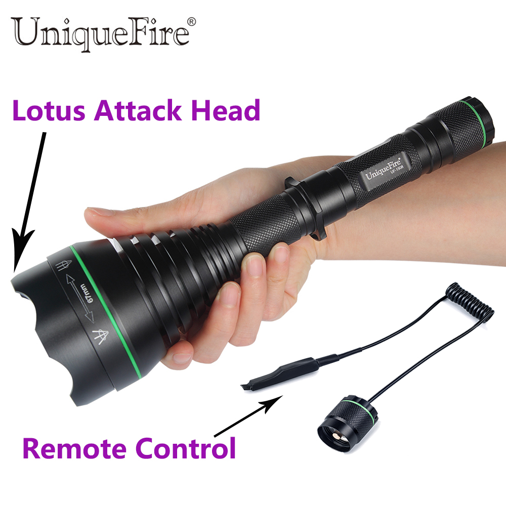 LED Flashlight UniqueFire 1508 T67 Lotus Attack Head IR 940NM Night Vision Flashlight Torch With Remote Pressure For Hunting uniquefire night vision t67 flashlight uf 1405 ir 850nm led flashlight kit lamp torch remote pressure scope mount charger