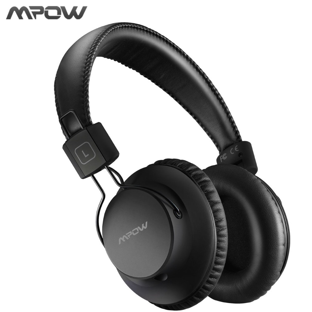 Original Mpow H1 Wireless Headphones Bluetooth 4.1 Headset Noise Cancelling Heasphone Soft Earbud With Carring Bag For PC TV MP3 a01 bluetooth headset v4 1 wireless headphones noise cancelling with mic handsfree earpiece for driving ios android