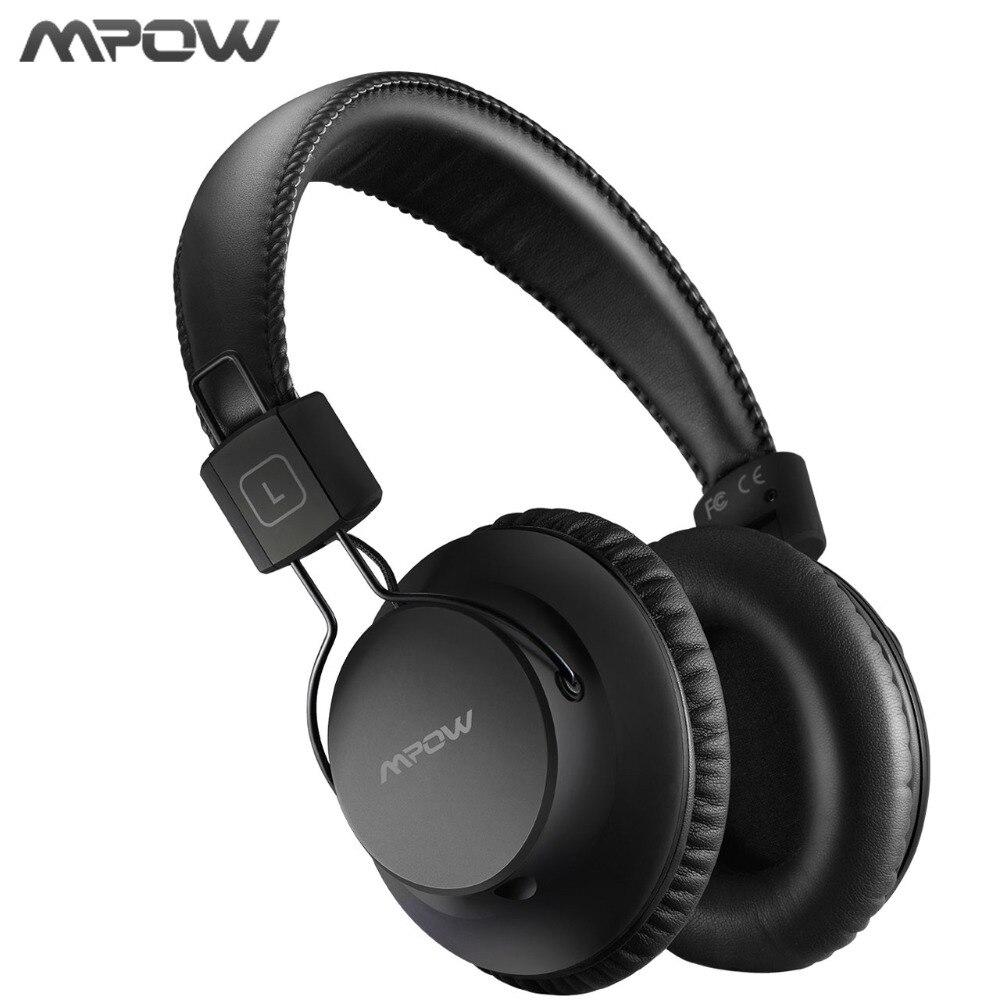 Original Mpow H1 Drahtlose Kopfhörer Bluetooth 4,1 Headset Noise Cancelling Heasphone Weichen Ohrhörer Mit Carring Tasche Für PC TV MP3