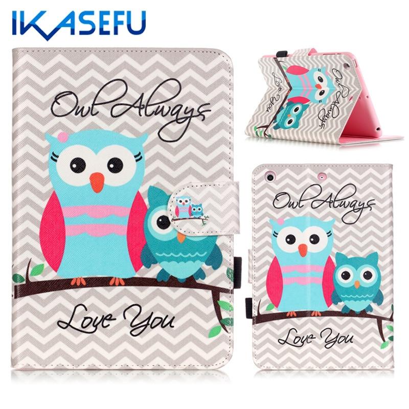 IKASEFU PU Leather for iPad mini 123 Coque Fundas for MINI ipad Mini 3 2 1