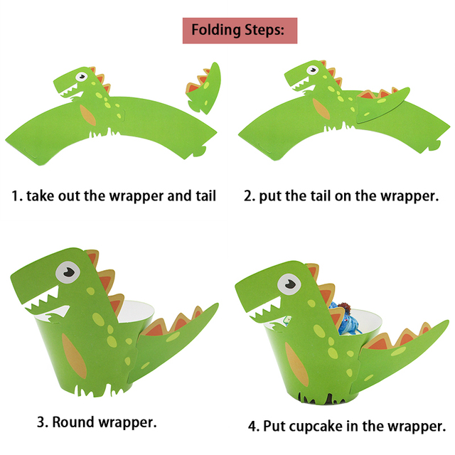 Dinosaur Cupcake Wrapper (12)